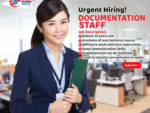 URGENT HIRING: DOCUMENTATION STAFF