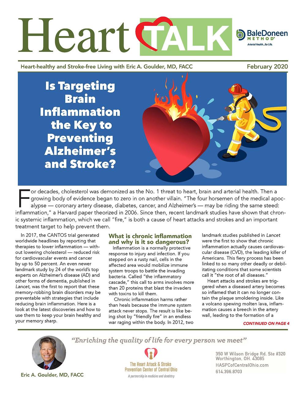 November 2020 Newsletter for the Heart Attack and Stroke Prevention Center of Central Ohio