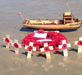 Model of Skylark with poppies.jpg