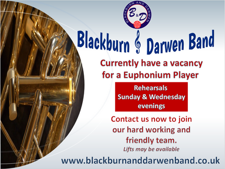 Vacancy for a euphonium player