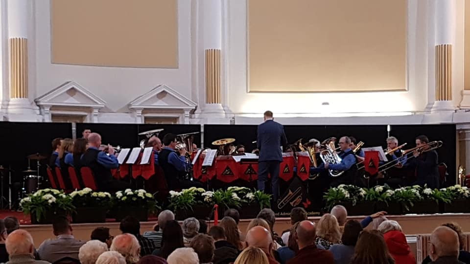 On stage in Chorley Town hall conducted by Dan Thomas
