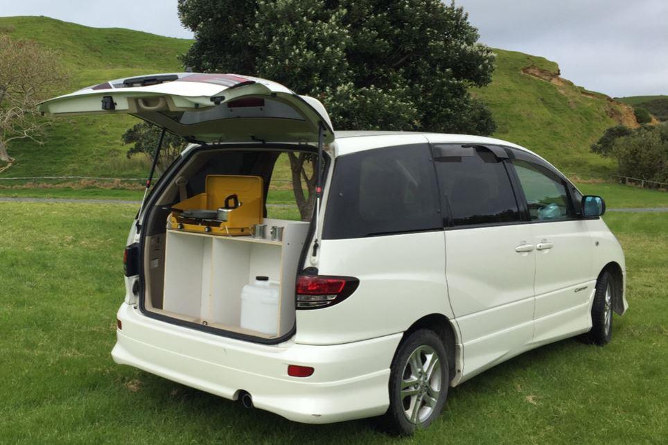 Camper van rental Toyota Estima.JPG