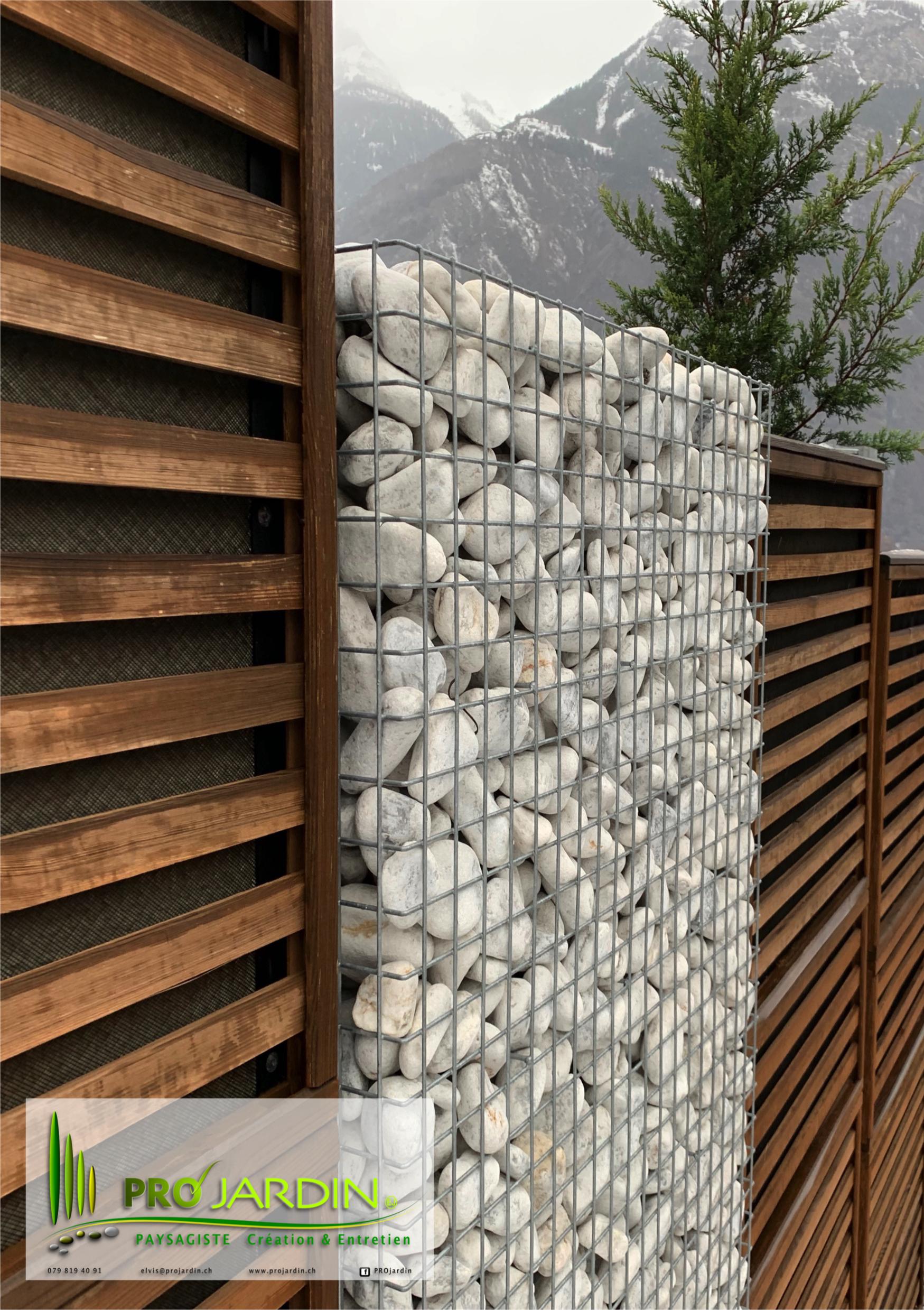 barierre antibruit bois-gabions