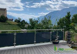 Terrasse en bois composite sur chassie en aluminium