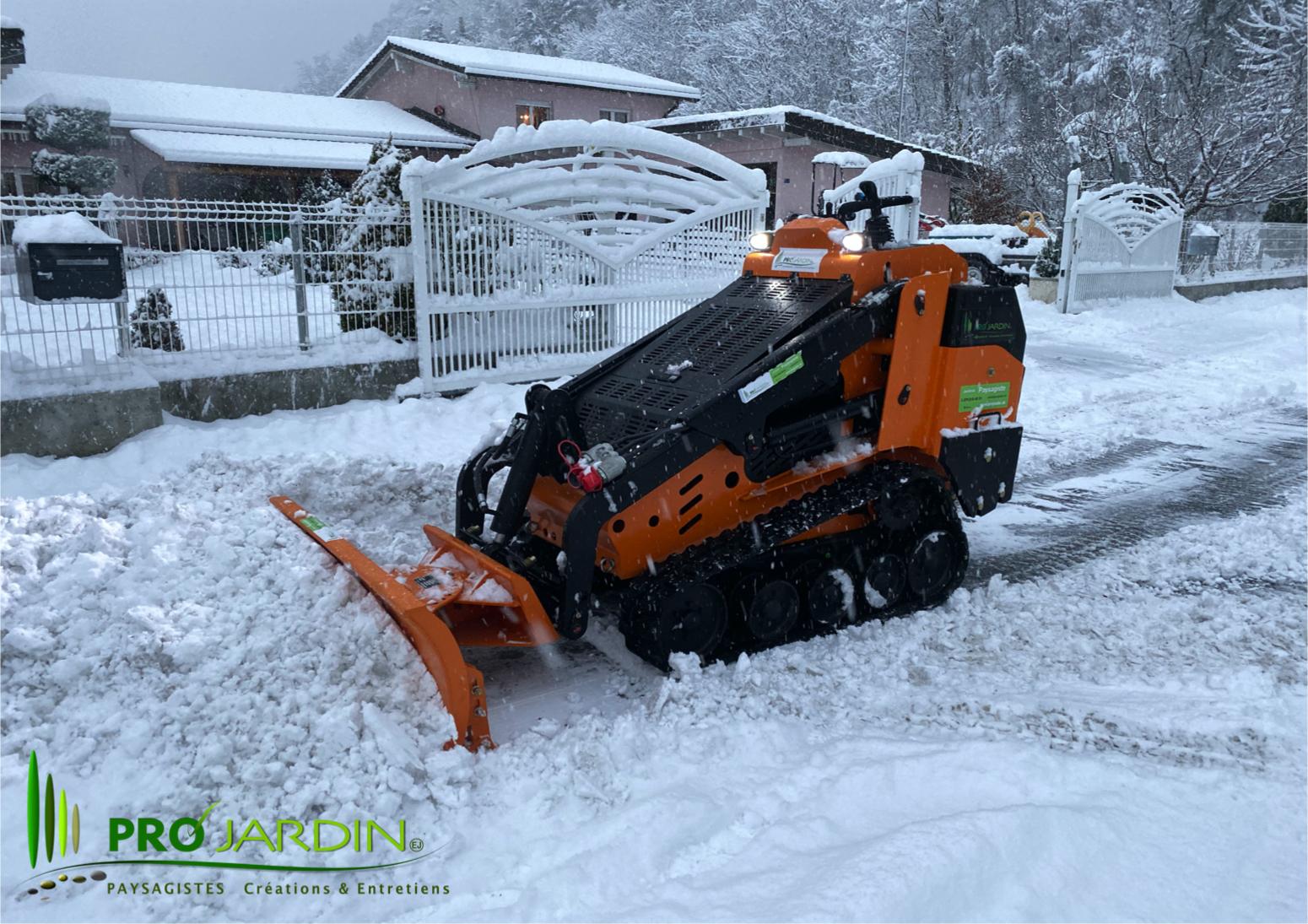 Chasse neige / déneigement PROjardin