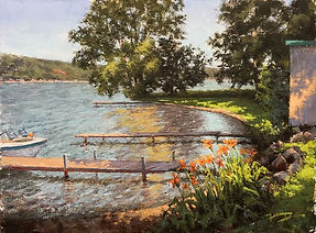 Day Lillies At Keuka Lake 12x16.jpg