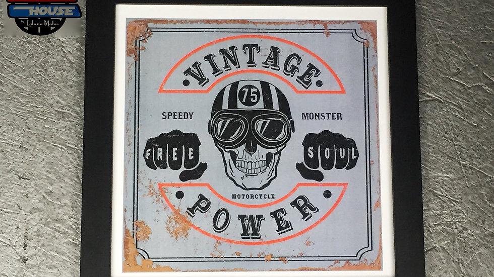Cuadro Vintage Power