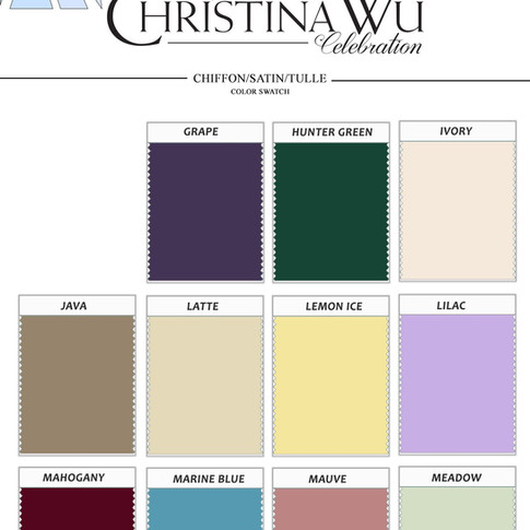 Christina Wu Swatch Card