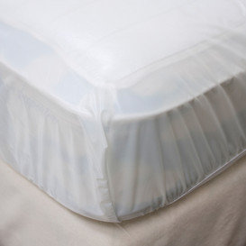 PVC Fitted Waterproof Mattress Protector - Single