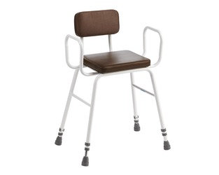 Perching Stool with Padded Seat and Back