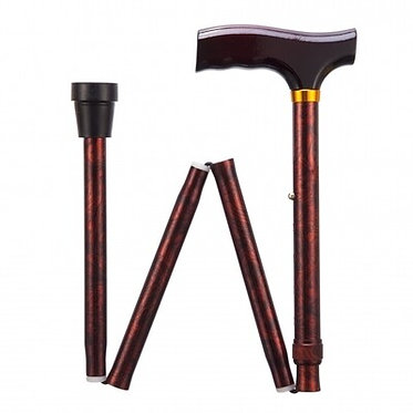 Adjustable, Folding Walking Stick - Copper Crackle