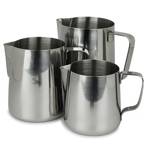 Rhino Pro Milk Pitcher 360ml/12oz 600ml/20oz 950ml/32oz | Dairy Beanz Coffee Roasters | New Zealand