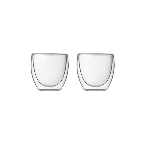 Bodum Pavina Double Wall Set of 2 Glasses, 8 oz | Dairy Beanz Coffee Roasters | New Zealand