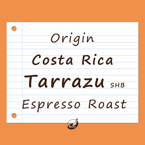 Costa Rica SHG Tarrazu | Single Origin Coffee Beans | Dairy Beanz Coffee Roasters | New Zealand