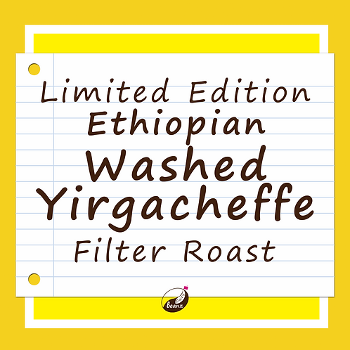Ethiopian Yirgacheffe Washed Specialty Single Origin Coffee Beans | Dairy Beanz Coffee Roasters | New Zealand