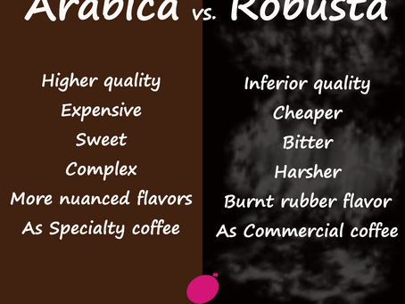 Arabica coffee vs. Robusta coffee