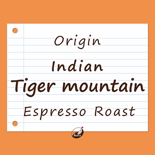 India Tiger Mountain Single Origin Coffee Beans Dairy Beanz Coffee Roasters New Zealand