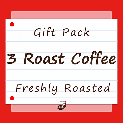 3 Roast Coffee | Gift Pack | Dairy Beanz Coffee Roasters | New Zealand