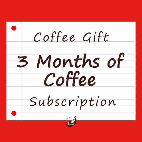 3 Months of Coffee Subscription | Holiday Gift Pack | Dairy Beanz Coffee Roasters | New Zealand