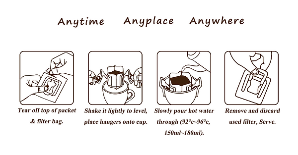 Coffee Brew Method: Drip Bag Coffee Brew Guide. How to Make Pour Over drip coffee in seconds?