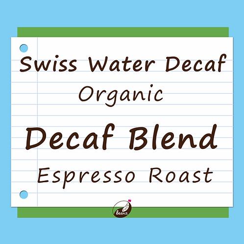 Swiss Water Decaf Organic Espresso Blend | Dairy Beanz Coffee Roasters | New Zealand