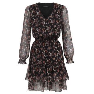 sukienka z falbanami w drobne kwiatki 1