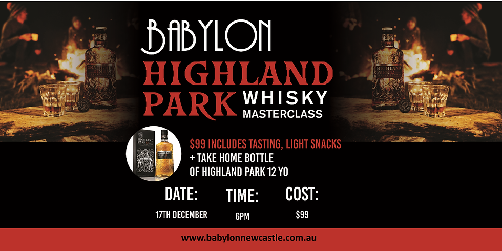 Highland Park Whisky Masterclass