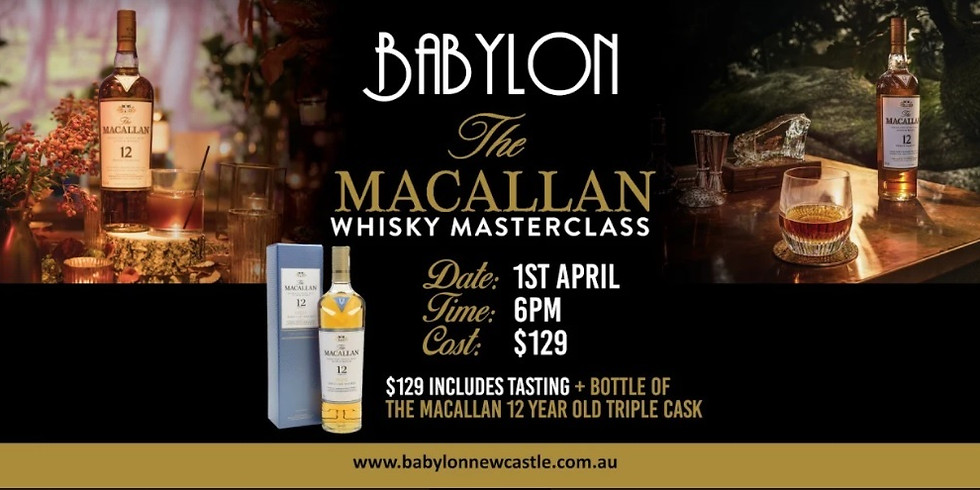 Macallan Whisky Masterclass