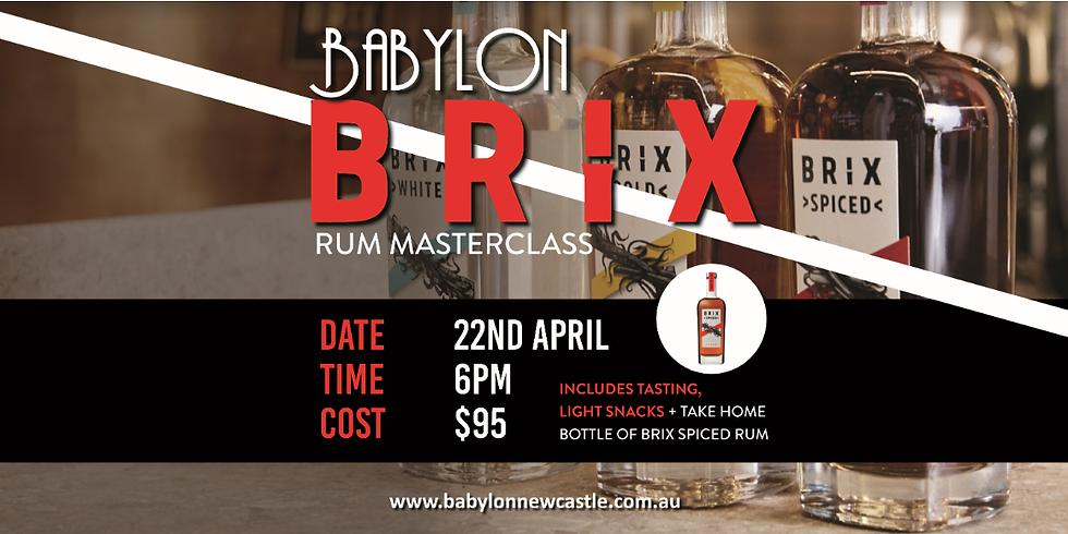 Brix Rum Masterclass