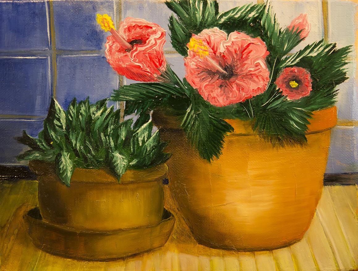 Натюрморт с цветущей гарденией