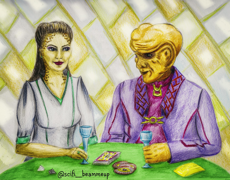 Jadzia and Quark