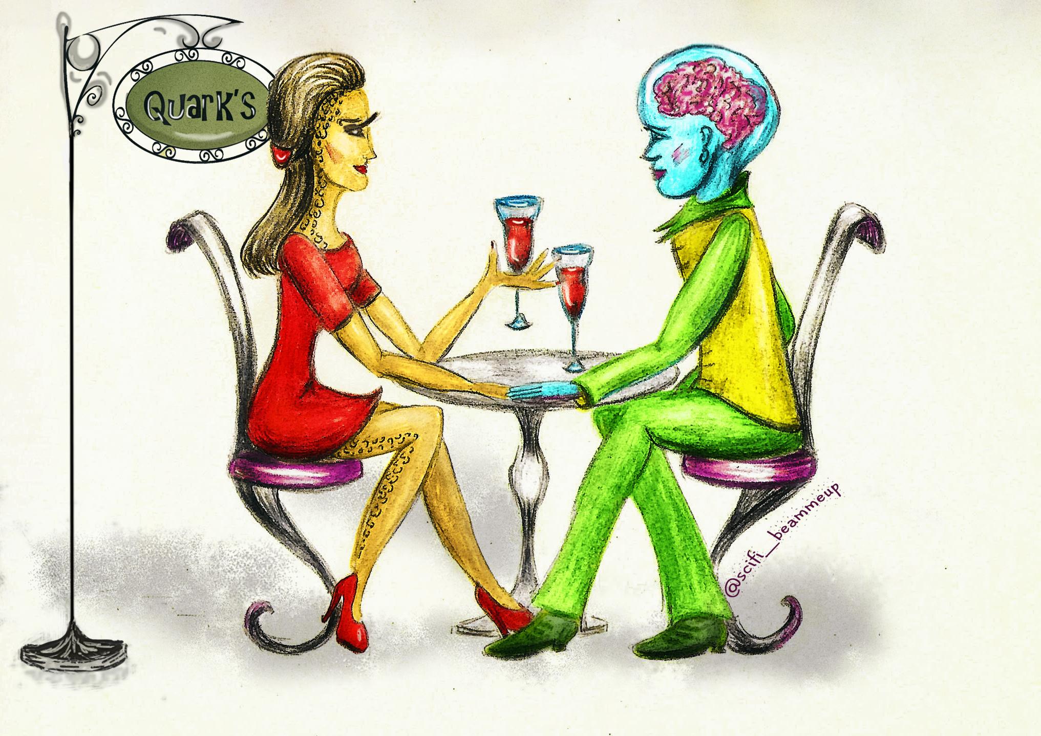 Jadzia on a date