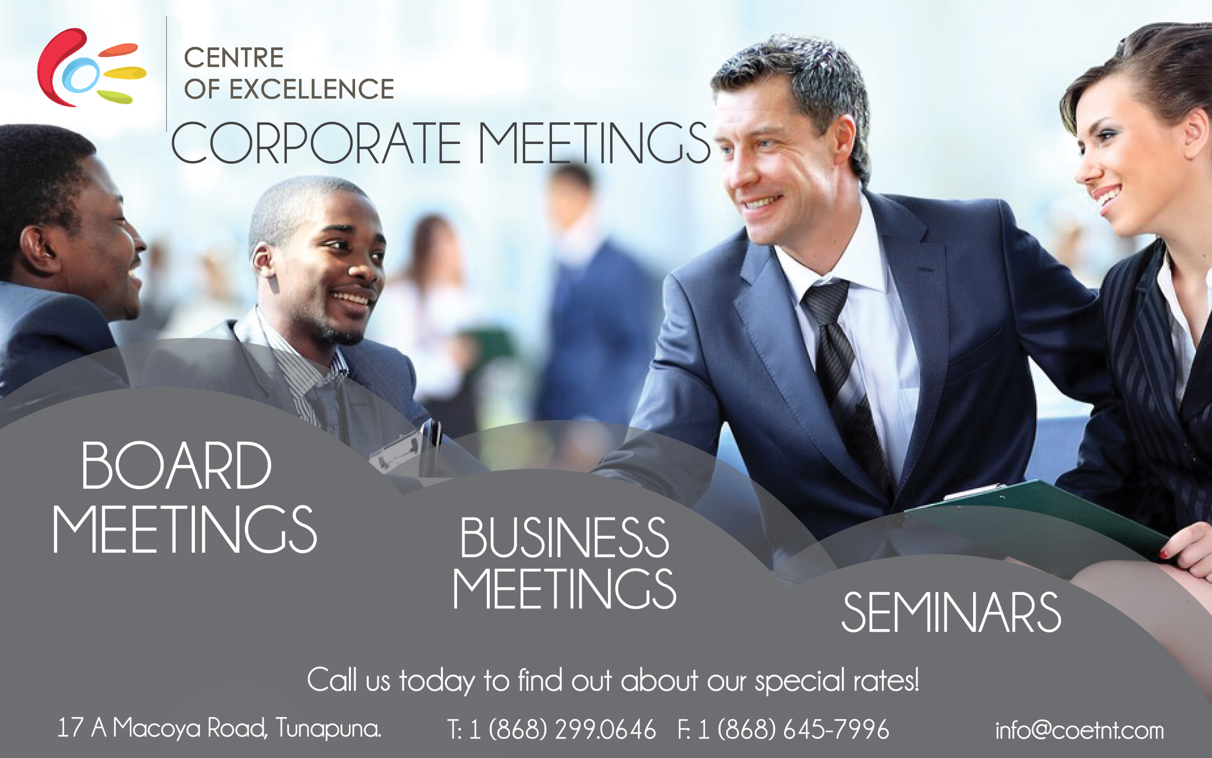COE Corporate Meetings Flyer