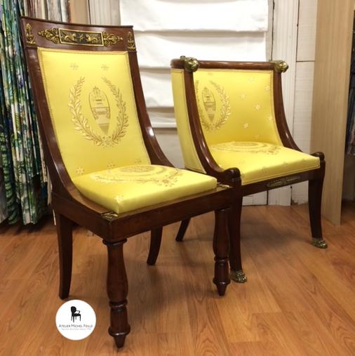 Fauteuil et chaise Empire