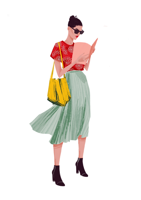 girl reading green.png