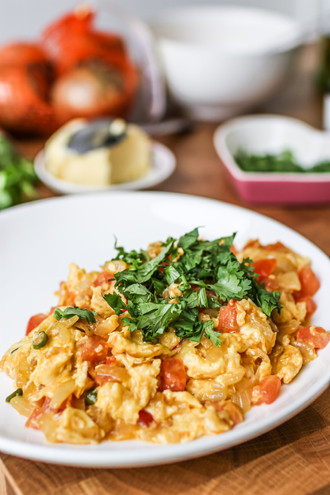 Spruced Up Scrambled Eggs