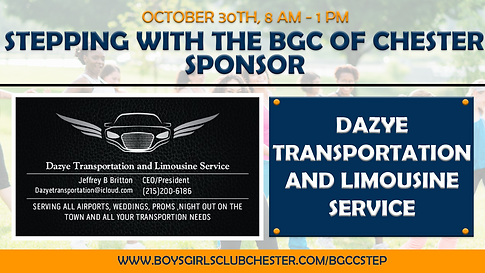 Steping with the BGC of Chester Sponsor - Dazye Transportation.png