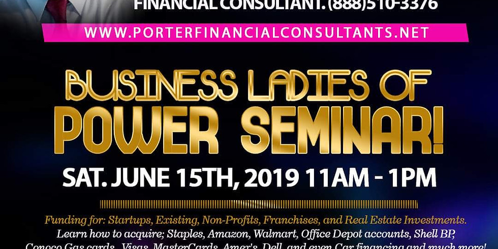 Business Ladies of Power Seminar