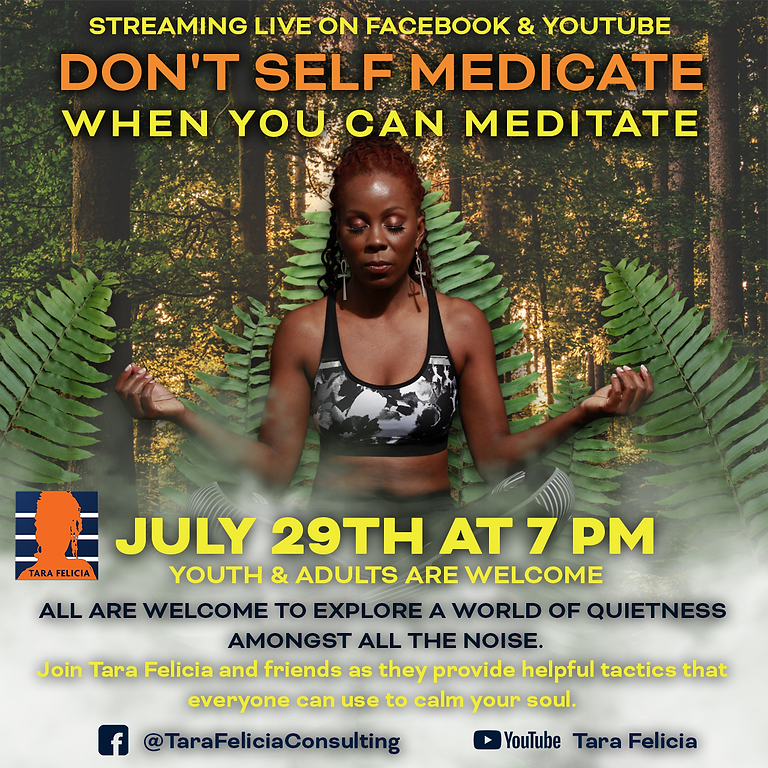 Don't Self Medicate When You Can Meditate