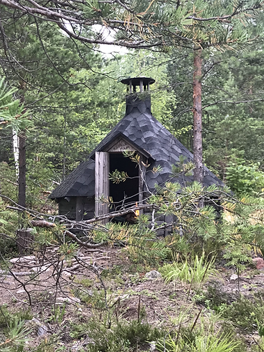 Fumoir traditionnel du Lac Saïmaa en Finlande