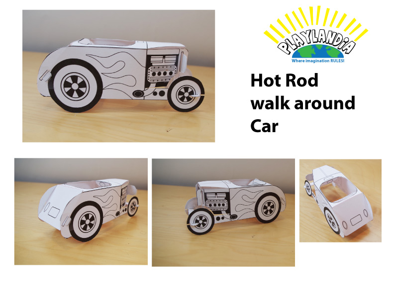 Hot Rod Scale Model Mock-up