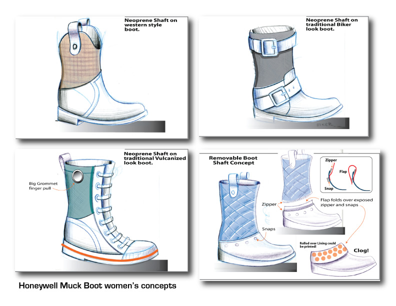 Boot Concept Sketches
