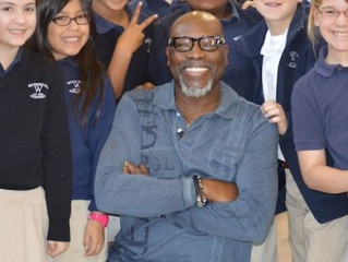 LEROY CAMPBELL VISITS WOODWARD ACADEMY LOWER SCHOOL