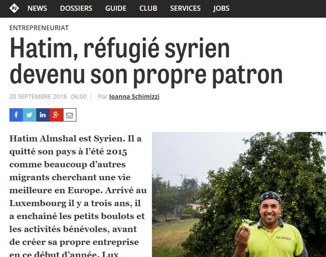 Hatim, réfugié syrien devenu son propre patron.