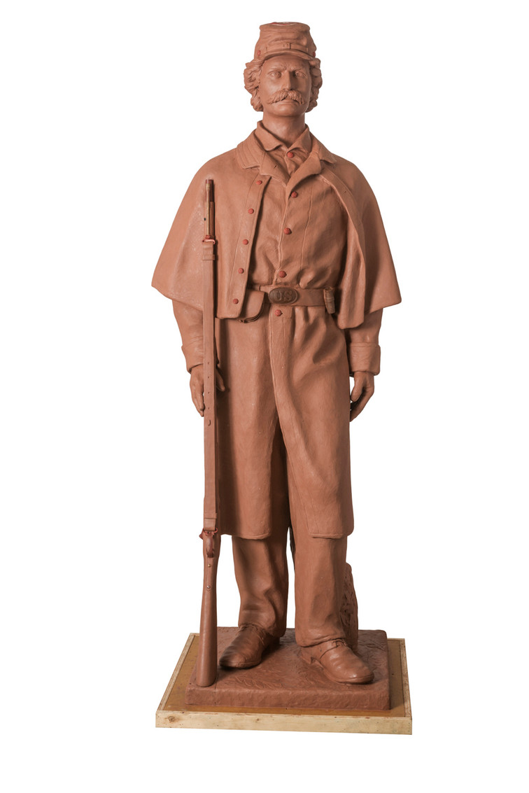 lifesize Civil War Soldier Rock Island Illinios dedication to be announced.