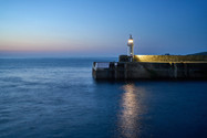 Mevagissey Harbour and Lighthouse.