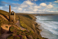 Golden glow at Wheal Coates.