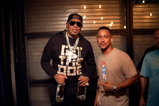Master P, Drink Champs bts with Mr Lee