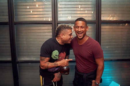 Benzino & Mr Lee after Drink Champs filming