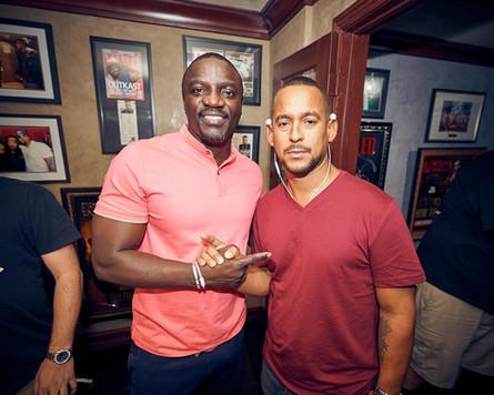Akon and Mr Lee